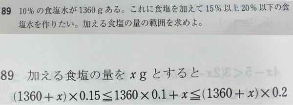 数学の不等式の問題です。どうして下の式になるのかが分かりません。なぜ真ん中の式が必要なのですか?
