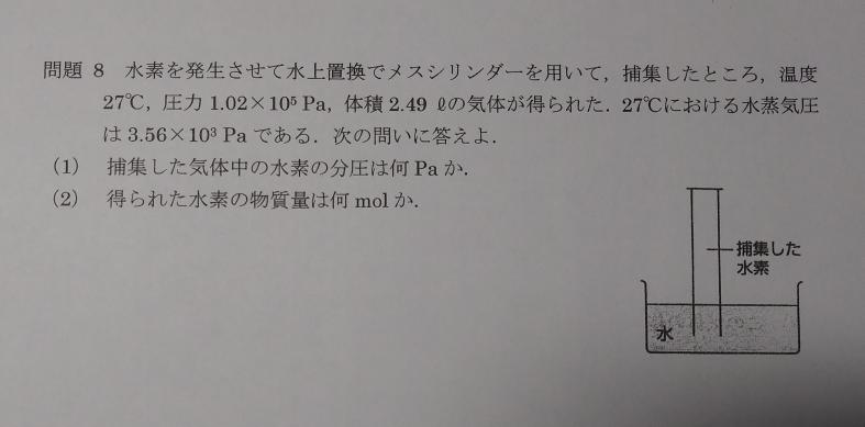 この化学の問題がわかりません。教えてください ♀️