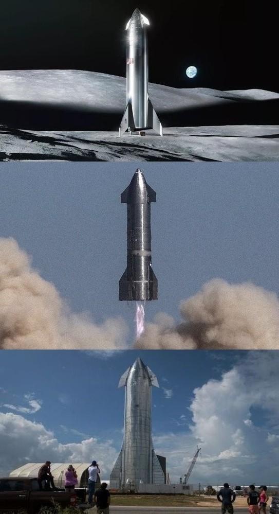 スペースXのスターシップは再使用が可能で、元の形のままで地球に 戻ってきますけど、なんかSF映画に出てきそうな形ですよね。 エンジンが巨大だから元のままの形で往復できるんでしょうかね? https://www.youtube.com/watch?v=SMXp7avgAkM このロケット間違いなく軍事利用されるんじゃないですかね?