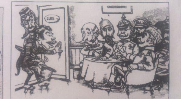 ビゴーの列強クラブという風刺画で、扉を開けて入ってくるこの国はなんの国ですか?