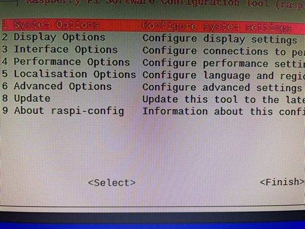 ラズパイ4でイヤホンジャックから音が出ないためLXTerminalを起動してsudo raspi-configを入力後写真のようになったのですが、ネットで調べると7番目のAdvanced Opt...