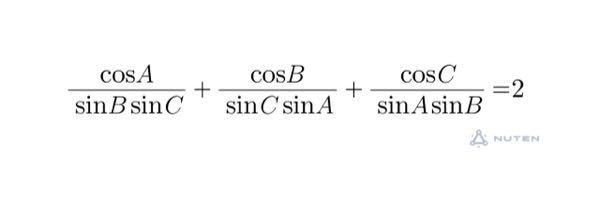 高校数学の三角関数の問題です。解き方が分かりませんどなたか証明をお願いします!なるべく詳しく書いていただけると嬉しいです! 直角三角形でない三角形ABCにおいて、頂点A、B、Cに対応する角の大きさをA、B、Cで表すことにします。次の問題を証明してください。