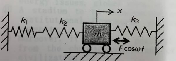 次の3つのばねの合成ばね定数keを求めと下さい。