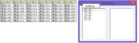 2つの連動するリストボックスを作成したい。 現在一つのリストボックスで選択入力をしています。 これを1つ目のリストボックスで選択されたリストをもとに、2つ目のリストボックスに画像のように表示させて任意のセルへ選択入力させたいのですが、どうしても出来ません。 ご教授をお願いします。   現在のコードです。  Private Sub ListBox1_DblClick(ByVal Cancel ...