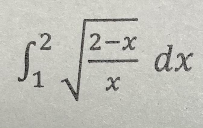 次の定積分の解き方を教えてください。 よろしくお願い致します。