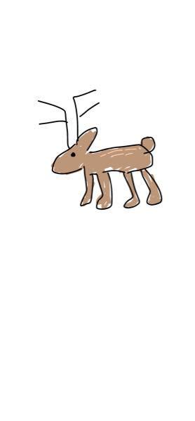 友達に鹿じゃないと言われたのですが鹿に見えますよね?