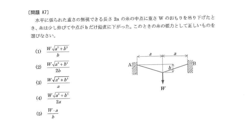 物理の糸の張力問題です。 基本問題なんですが、この問題の解答がわかりません・・・ 私に詳しくおしえください! お願いします!