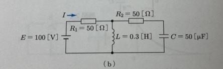 電気回路の問題です 各回路は定常状態で電流Iの値を求めよ (b) I=2[A] 途中式お願いします