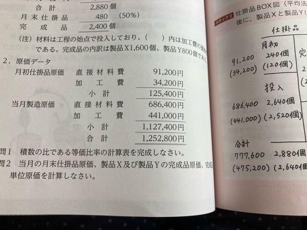 原価データの「当月製造原価」とは「当月製造費用」のことですか? 見切れていますが、右のページの仕掛BOXの「投入」に「当月製造原価」の金額が書かれているということは、やはり、「当月製造原価」=「...