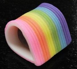 和菓子の日 (6月16日) には虹色の練り切りを食べますか??