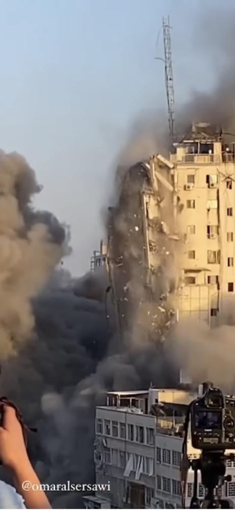 イスラエル爆撃! ガザのアルシュークタワーにいた人達は皆殺しにされたのでしょうか?