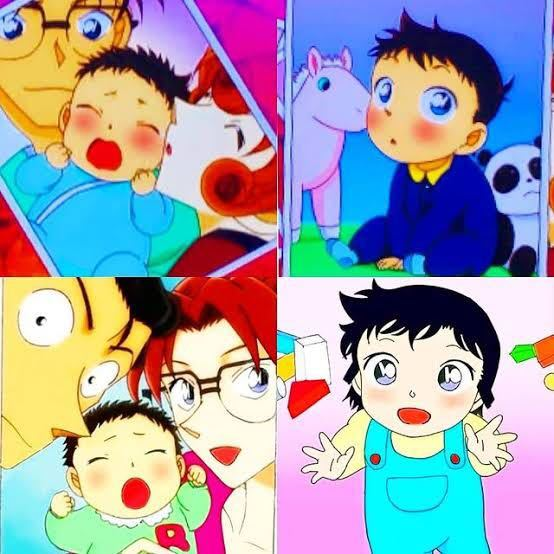 「名探偵コナンアニメについて」 この画像のように赤ちゃんの頃の蘭と新一の話は何話ですか? それともこの画像は二次創作なのでしょうか?