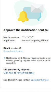 アマゾンにログインできなくなりました。 メールアドレスとパスワードを入れた後ログインしようとすると変な携帯の認証画面が出てきてスマホで確認するのですが、パスワードの変更画面は出てきてもそのまま承認してログインするボタンがどこにもないためログインできず困っています。どうすればよいのでしょうか?