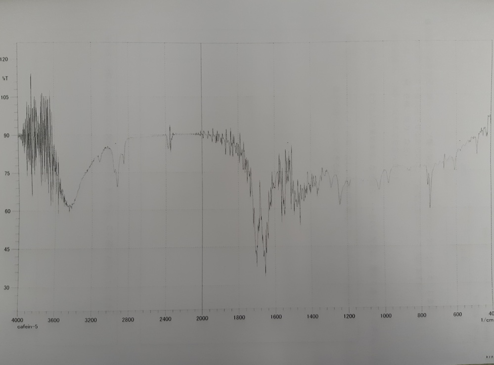 この画像から何が分かりますか?実験レポートに書かないといけません。助けてください