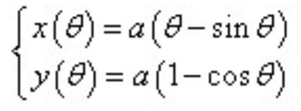 この数学の問題がわかりません。 教えてください。 画像のサイクロイドの式について、 dx/dθ, dy/dθ を求めて選択肢ア〜オから選べ。 ア dx/dθ = a(1-cosθ) dy/dθ = a sinθ イ dx/dθ = 2a(1+cosθ) dy/dθ = sinθ ウ dx/dθ = a(1+cosθ) dy/dθ = a sinθ エ dx/dθ = 1 - a cosθ dy/dθ = cosθ オ dx/dθ = 1 - a cosθ dy/dθ = sinθ
