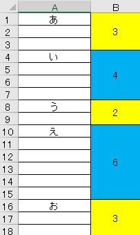 【VBA】次に空白でないセルが来るまでの行数を取得したい ご覧いただきありがとうございます。 A列に任意の間隔で値が入ったセルがあるとき、 次に空白でないセルが来るまでの行数を取得するにはどうすればよいでしょうか。