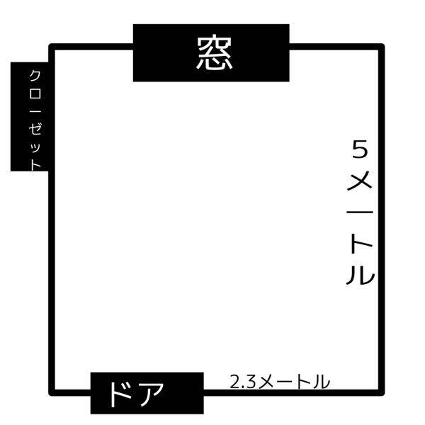 ⤵︎⤵︎⤵︎⤵︎⤵︎⤵︎⤵︎自分の部屋の構造?なんですけどどこにベットテレビを置いたらいいですかね??
