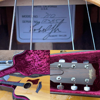 Taylor テイラー アコースティックギターについて。 写真のギターなのですがラベルのシリアル番号が5桁しかないのですが10桁以外にも存在するのでしょうか?詳しい方ご教示お願いします。