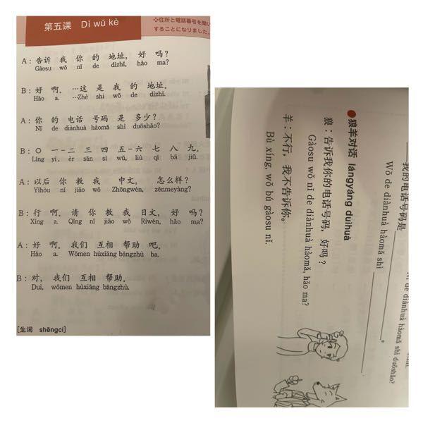 この中国語の文の日本語訳を教えてください!