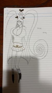 女の子の絵を描きました。適当ですが評価お願いします。