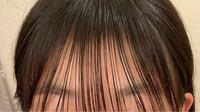 この前髪はオイルつけすぎでしょうか? 束のあるストンと落ちたぱっつん前髪にしたくて、 何回も試行錯誤しています。  皆さんはどう思いますか?