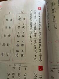 漢検準2級の試験に 熟語を作る問題は出ませんよね?