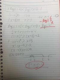 数学logについて。この問題の答えはあっているのに式がちがいました。何が間違っているのか教えていただけませんか?解答画像必要でしたらお送りします。