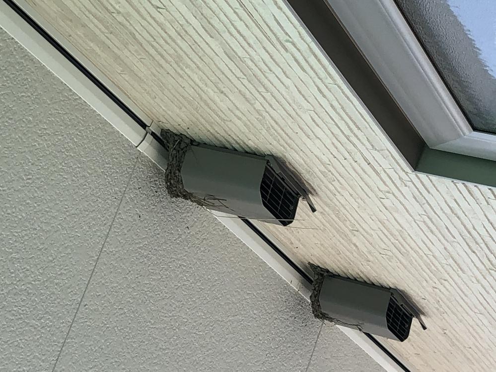 新築にツバメの巣が作られました。 どうしたら良いでしょうか? 24時間換気システムに影響ありますか? 宜しくお願いします。