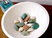 洗面台に石があるとこで手を洗うのが好きなんですけど、実際においたら掃除大変ですか?