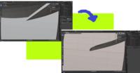 blenderについての質問です。 下の画像のようにオブジェクトをブーリアンすると一部、重なった部分が削除されず線のみが引かれた状態になってしまいます。原因を教えてください。よろしくお願いします。(*- -)ペコリ