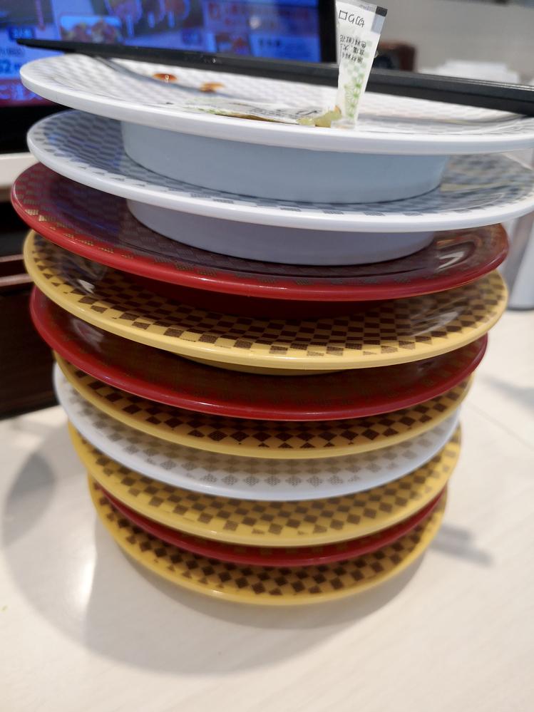 回転寿司で、何枚ぐらい食べられますか?