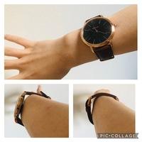 腕時計 大きさ 穴  腕時計を購入したのですが、穴を一番奥まで止めて緩すぎるのか、丁度いいのかわかりません。 上画像はその状態で時計がどのくらい腕の方に持っていけるかを表しました 左下右下画像は手首に腕時計をしている状態でパーをしてどのくらいゆとりがあるかを表してます。  この状態は緩すぎますか?緩すぎるなら時計屋さんで穴を追加してもらおうと思います。