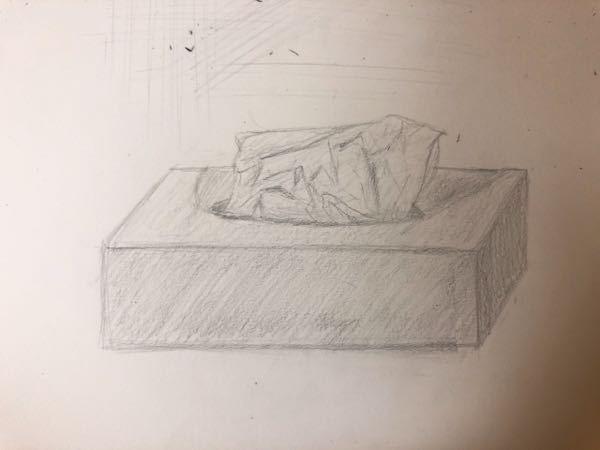 初めてデッサンを描いてみたのですが、アドバイスお願いします!