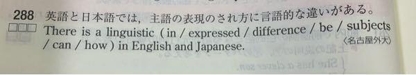 こちらの()の中身は →difference in how subjects can be expressed となる訳が全くわかりません! なぜcanがあるのですか!