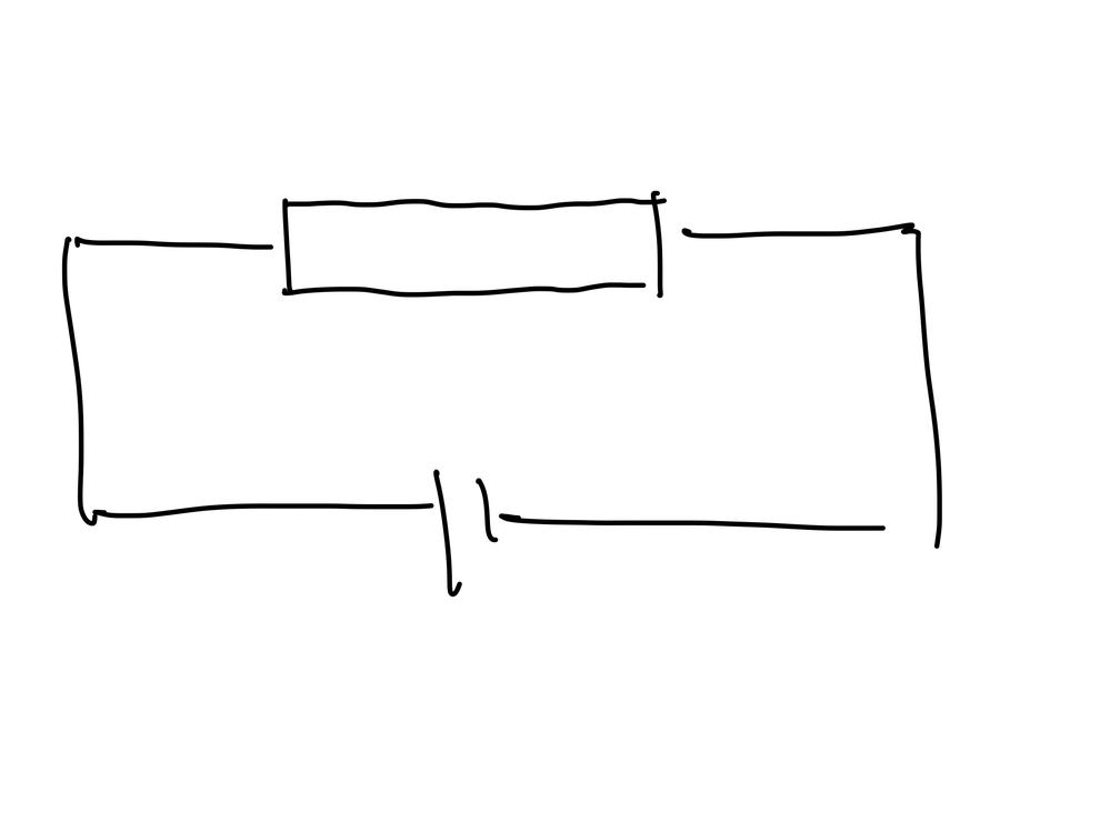 下図のような回路で銅線内は等電位であるとしたとき、電池の起電力がVならば抵抗に入る前と後で電圧がV下がらなければいけないのはなぜですか?