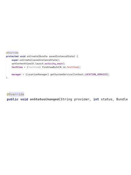 https://note.com/c_omachi/n/nef100a0a23ad いま、ここに書かれているプログラムをAndroidStudioでしようとしているのですが、写真にあるエラーと斜...