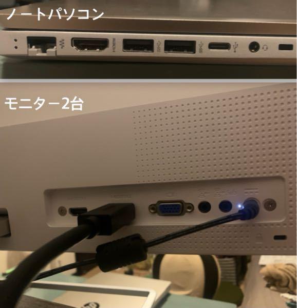 hpノートパソコン+モニター2台を拡張し、3画面それぞれ違った映像を出力したいのですが、上手くいきません。。。 「サンワダイレクト DisplayPort 400-VGA010」を購入しDisp...