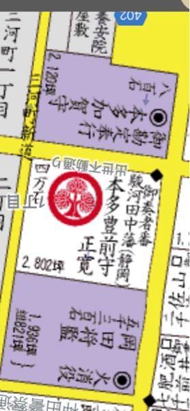 江戸の地図です。静岡で大分?これは旗本か、大名か?などわからないので、教えてください。