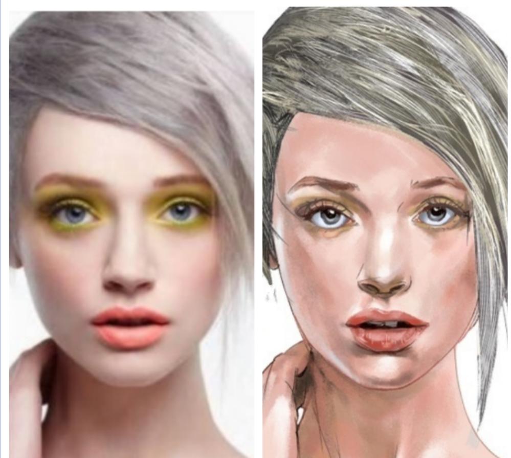 デッサンやリアル人物画の勉強をしている受験生です。 左が原画で右がそのイラストなんですが、この程度ですとあなたの中の100点満点をイメージすると、何点くらい付けられますか? イラストや似顔絵と...