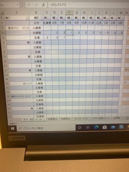 Excelにて在庫管理の表を作っております。 出庫数を計算式で出すようにしているのですが、前月の在庫数+入庫数-今月の在庫数で入れてます。 そうなると、まだ入力していない来月の出庫数に、今月の在庫数が反映してしまいます。 これを反映させないようにすることはできますでしょうか? Excelについて詳しくないので、わかる方よろしくお願いします。