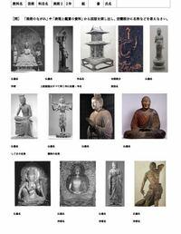 学校で出た課題なのですが、 どうやって検索すれすればこれにヒットしますか? もし、もし良ければ写真の仏像名と作者を教えてください。  #中学校 #中二 #美術 #仏像