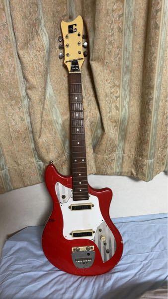 """このGuya toneのギターについて教えてください。 おそらく古いもの? 祖父の家にあったものを10年前に譲ってもらいました! 何故か今更この子のことが気になってしまい調べたのですが、分からずじまいです。。。 一応、調べた感じでは""""グヤトーンのLG-80T""""だと思っているのですが、調べて出てくる型の画像とは、ペグのつき方や、ピックアップ周りの模様が違うので核心に迫れません!(画像を貼れず大変申し訳ございません。) また、ヘッドの裏側にも数字は書いていませんし、ボディにも勿論ありません。 ちなみに、ネックとボディをつなぐ裏の金具には""""61G3924""""の文字がありました。 もし、ご存知の方がいらっしゃいましたら、ぜひ教えて頂けませんか? よろしくお願いします!"""