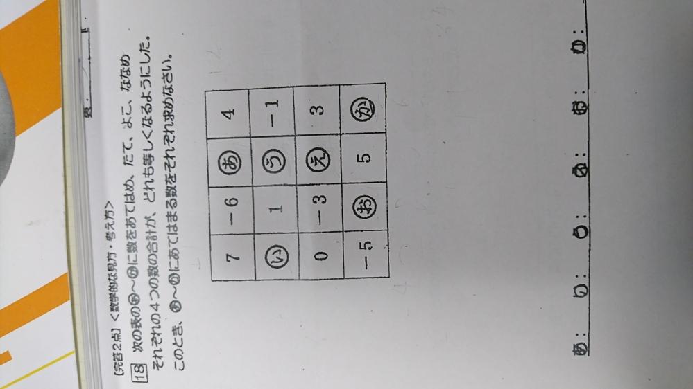 中1の数学の問題です。 詳しく回答をお願いしたいです。 すみません、よろしくおねがいします。