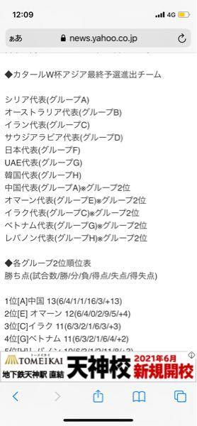 FIFAW杯三次予選終了しました。 次は、最終予選です。以下の画像が最終予選の出場国です。6月24日に組み合わせ抽選会があります。 日本にとって最良の組み合わせと最悪の組み合わせを教えてください。