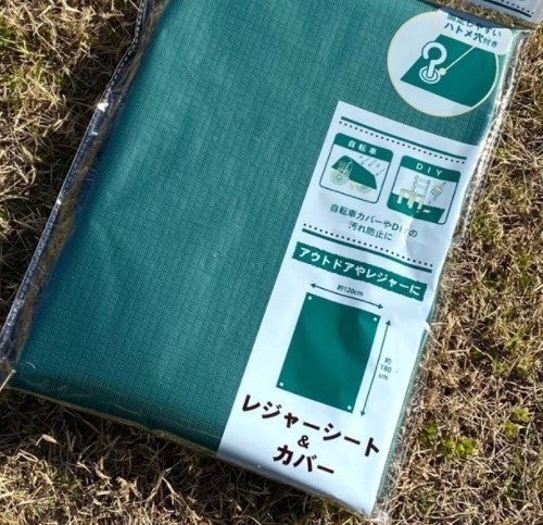 緑のよくあるレジャーシートは、(画像は100均のレジャーシートです。) 上からの雨よけになりますか? 下からの浸水しますか? 水に対してどのくらいの耐性があるのか知りたいです。