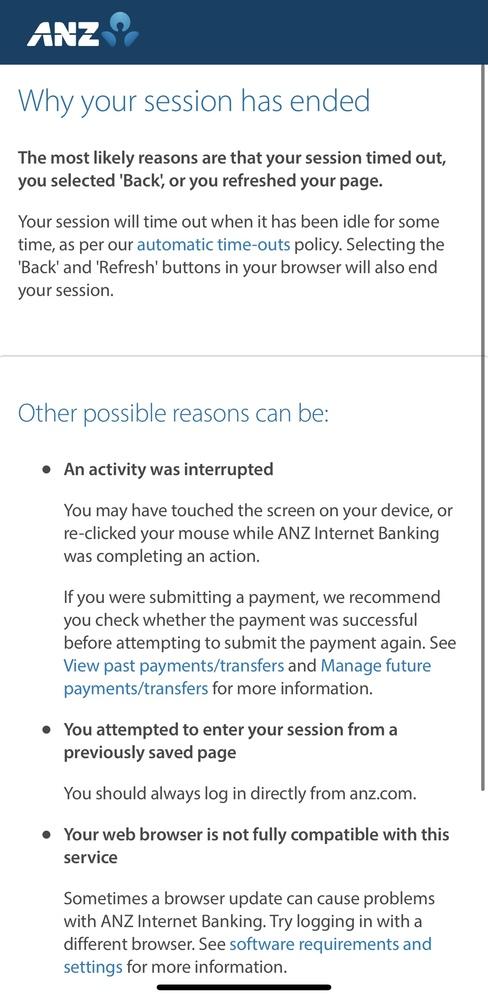 毎月ログインしてるオーストラリアの銀行ANZにログインしようとすると、これが出てきます。 ちなみにログインは1回も失敗してません。 先月もこれが出てきたのでスマホではなくpcからログインすれば入...