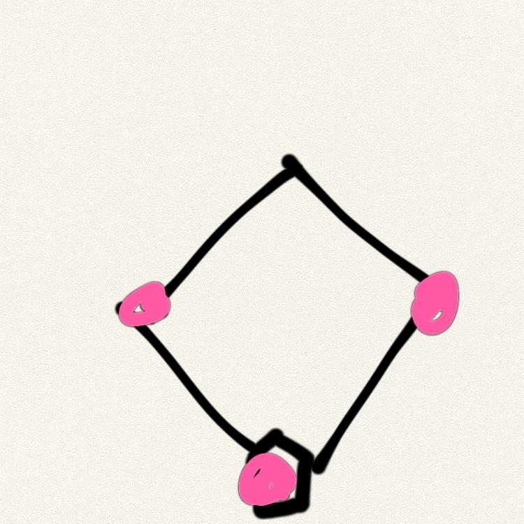 野球の知識が著しく欠乏した者です。野球の試合において、1アウトの時画像のピンクの部分に走者(?)打者(? )がいる時は、守備がボールを取ったらどこに投げるのがベストですか?おかしな質問で恐縮です。