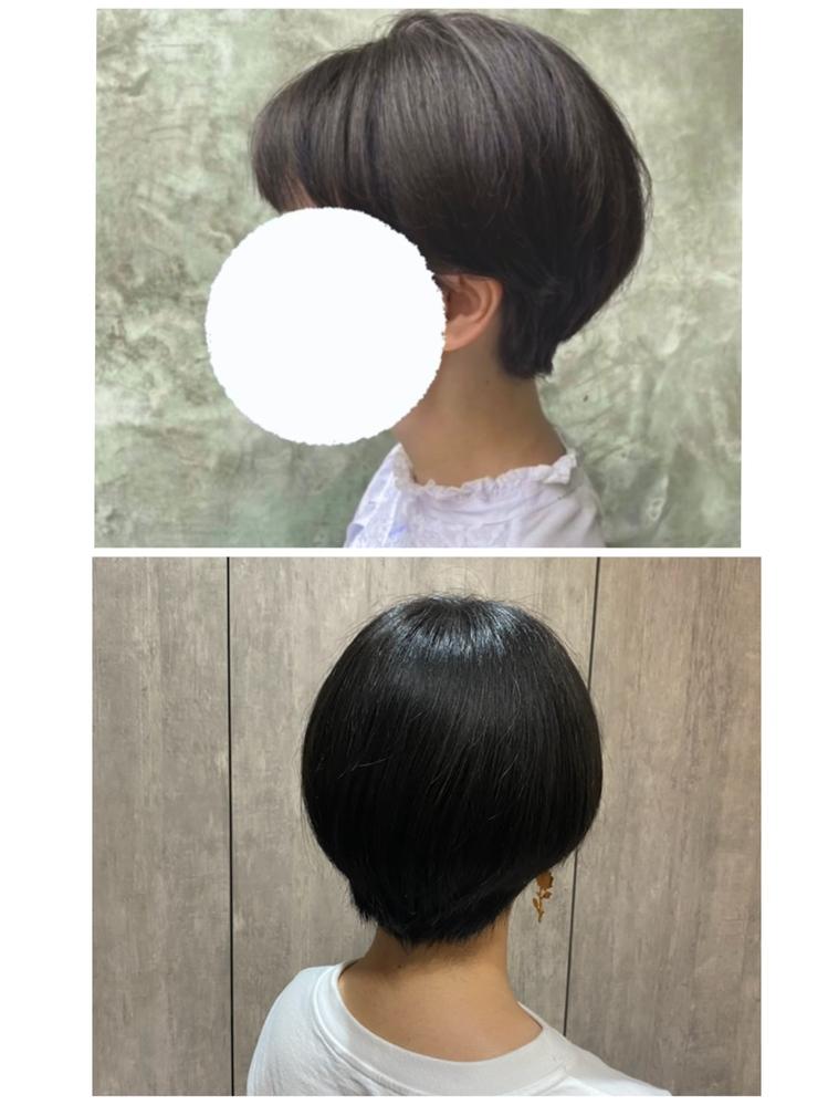 先月の16日にショートカットにしたのですが 約1ヶ月ほどたって髪が伸びて形が崩れてきてしまってて、このまま伸ばしてショートウルフにしたいんですけど美容院に行って形を整えてもらった方がいいのでしょうか? 切りたてが上の写真ですその後髪が伸びてから カラーモデルした時に撮ってもらった写真です。