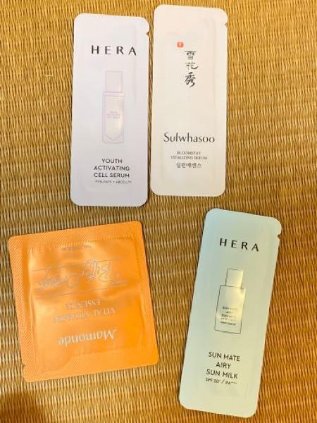 この4つのお試しってどういう用途なんですか?美容ってのは分かるんですけど、、海外の試供品に詳しい方教えて欲しいですm(*_ _)m