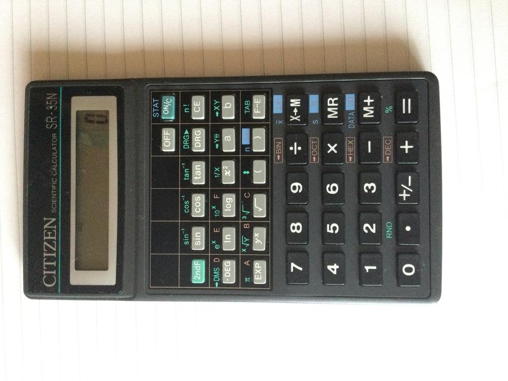 【500枚】関数電卓の使い方 シチズンの関数電卓なのですが、古くて使い方がわかりません。 計算時に、小数点以下が自動的に四捨五入されるのですが直し方を教えてください! 機種はCITIZEN SR-35Nです。 ネットを調べてもダメでした。